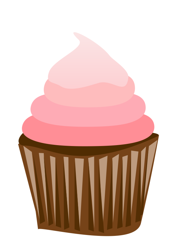 Cute Cupcake Outline Clipart.