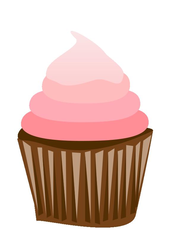 Cute Cupcake Outline Clipart.