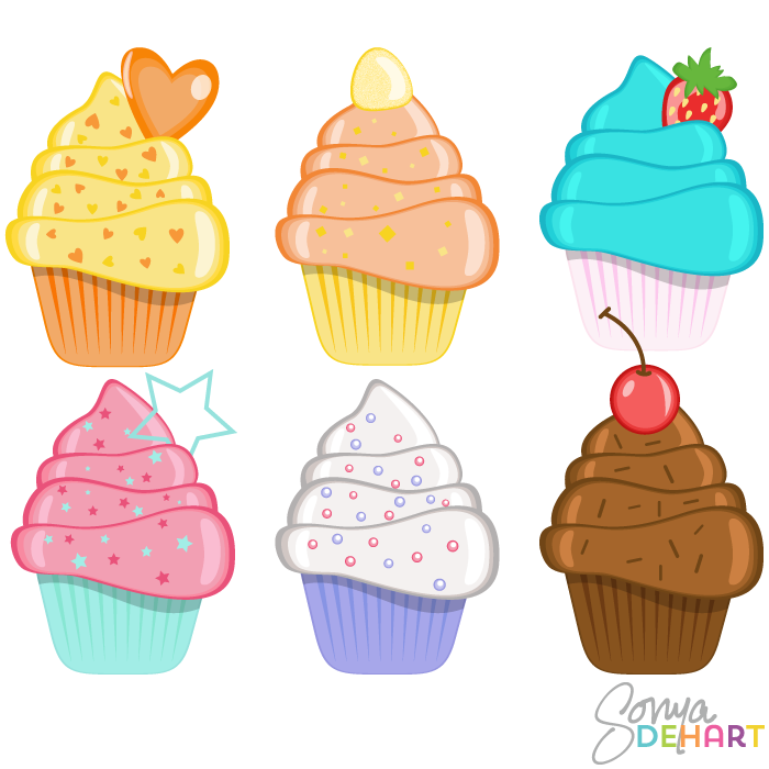 monthly cupcake clipart #19