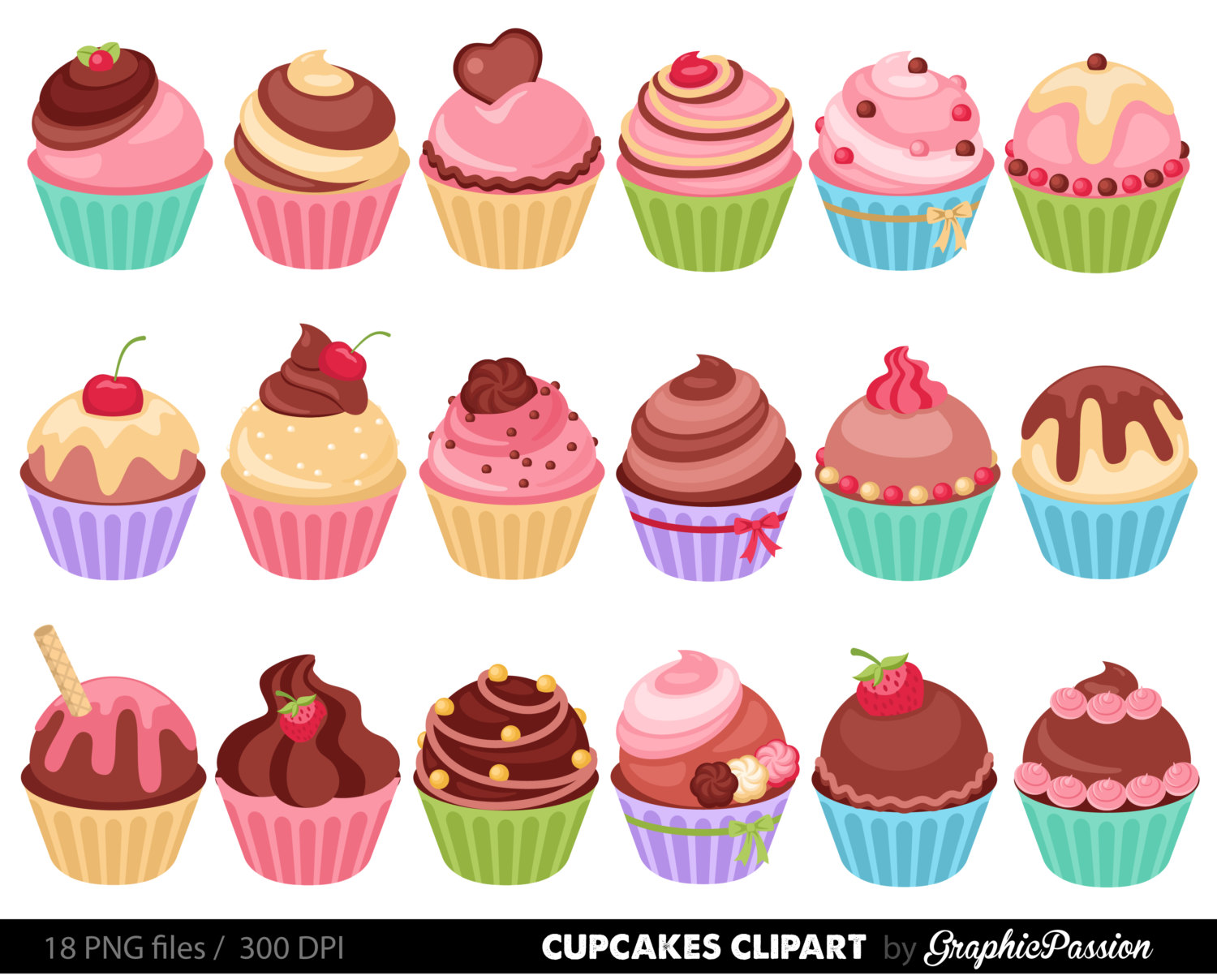Cupcakes Clipart & Cupcakes Clip Art Images.
