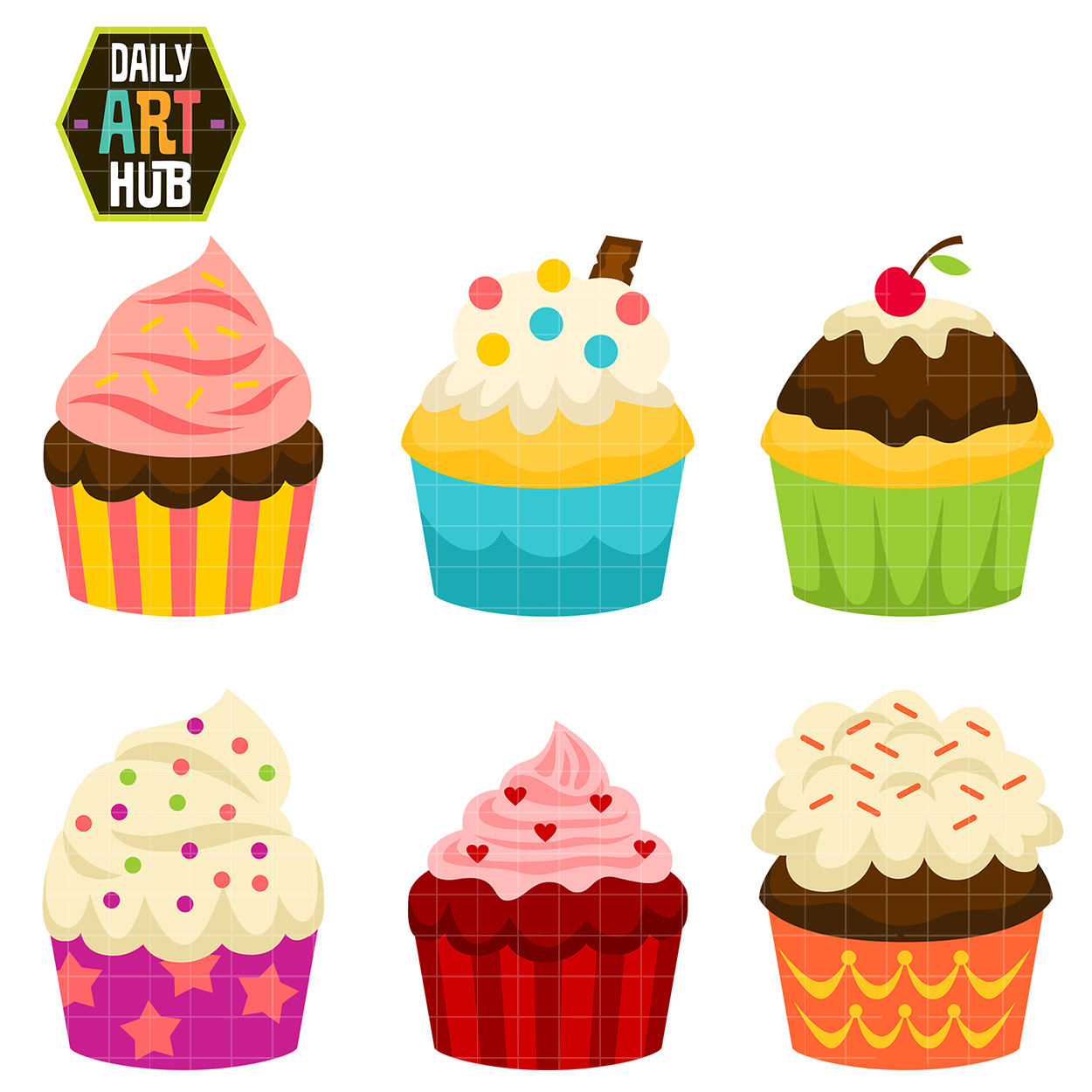 Cupcake and cake clipart.