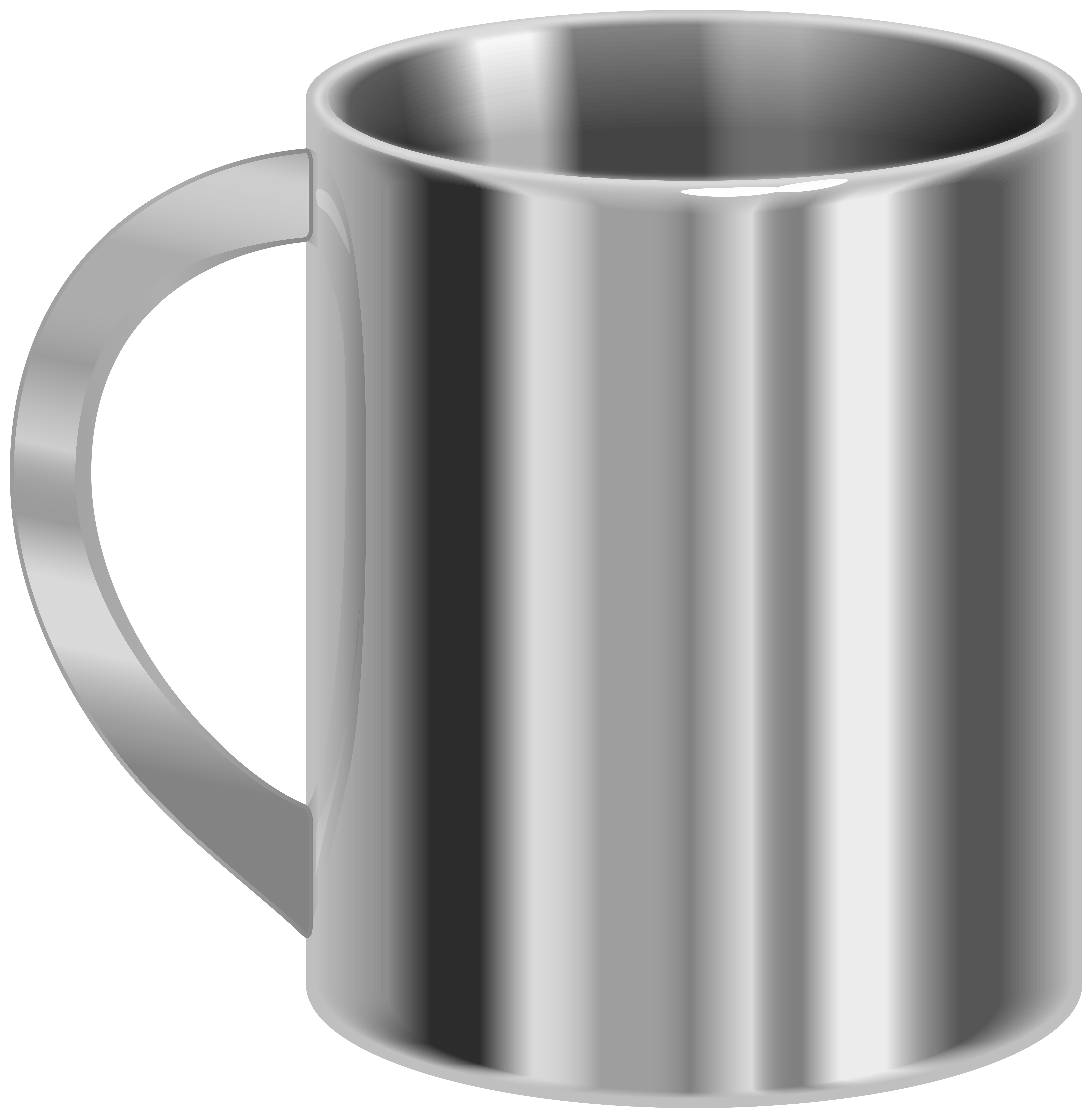 Stainless Steel Mug PNG Clip Art.