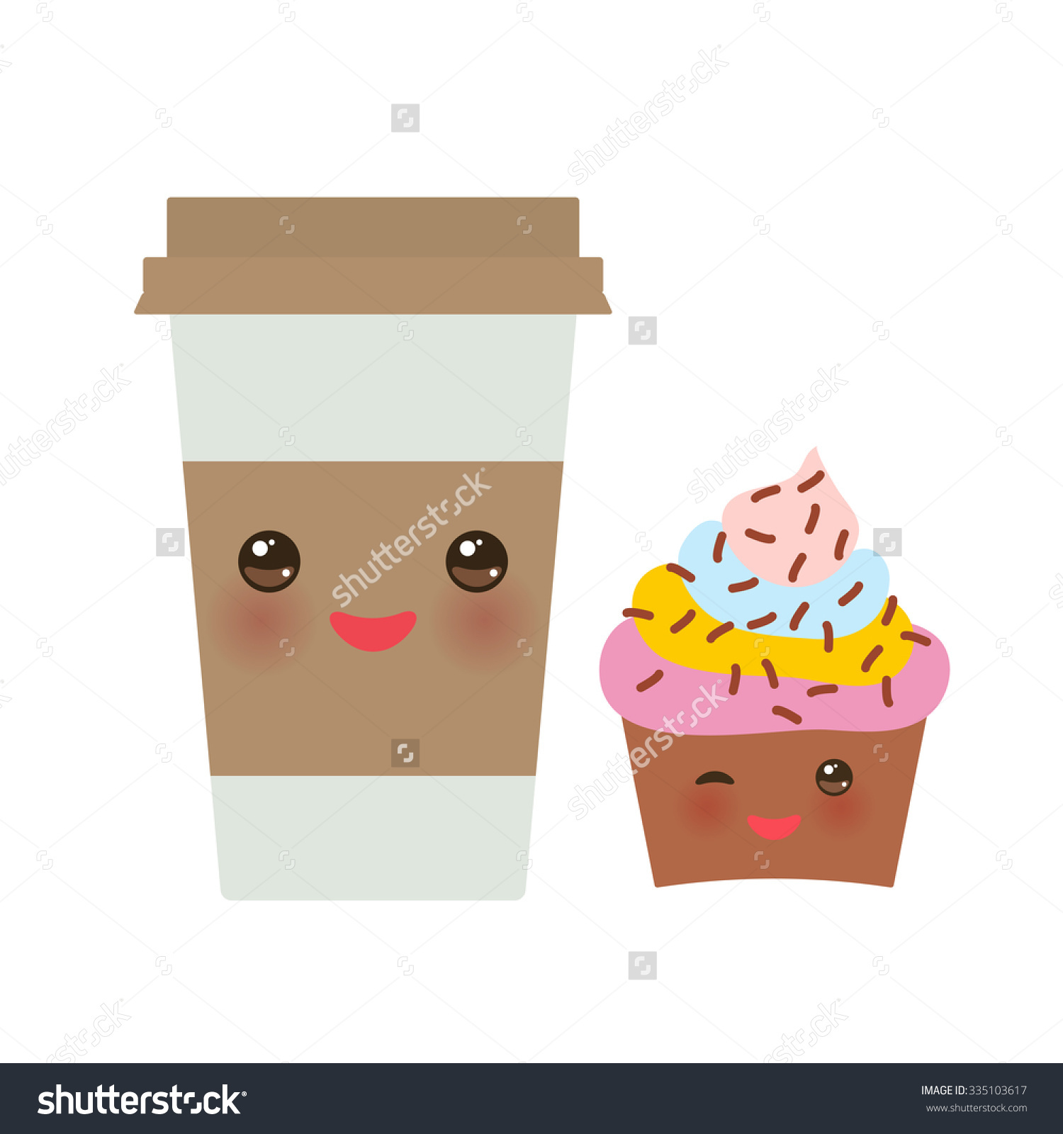 Takeout Coffee Paper Thermo Coffee Cup Stock Vector 335103617.