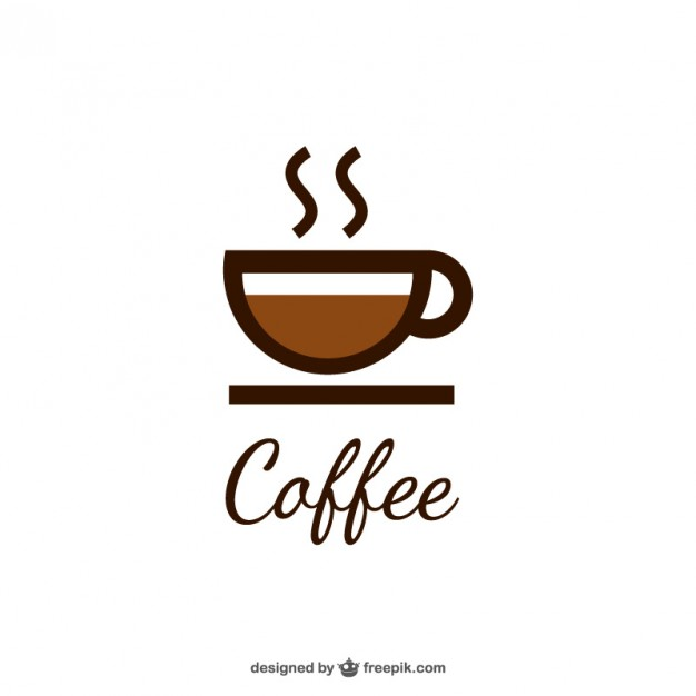 Coffee logo with cup Vector.