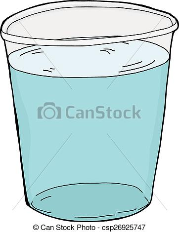 Full Cup Of Water Clipart.
