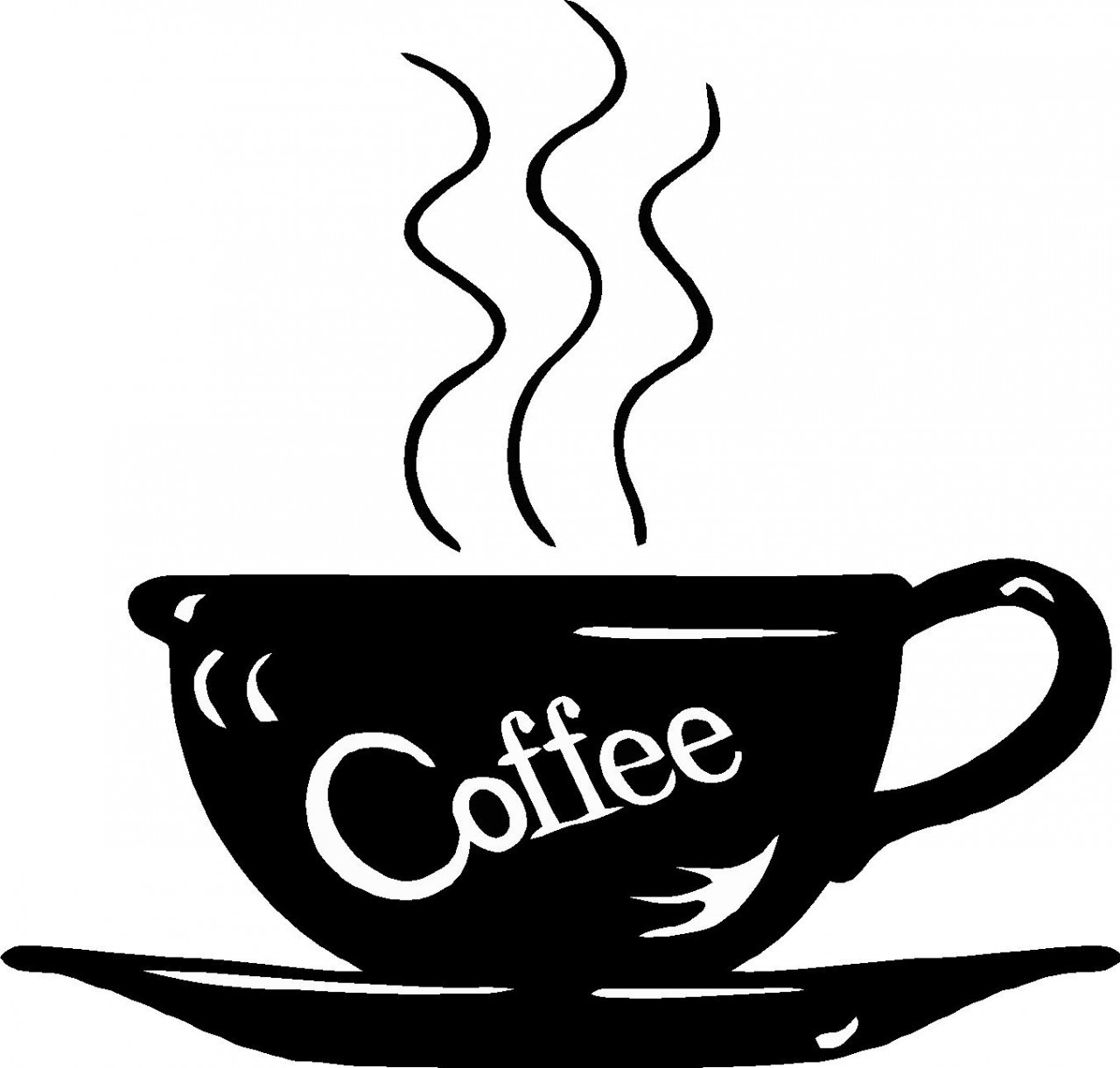 Coffee clipart black and white Best of Coffee cup cup clip.