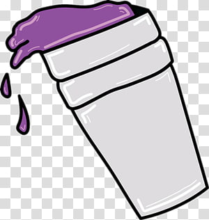 Purple Drank transparent background PNG cliparts free.