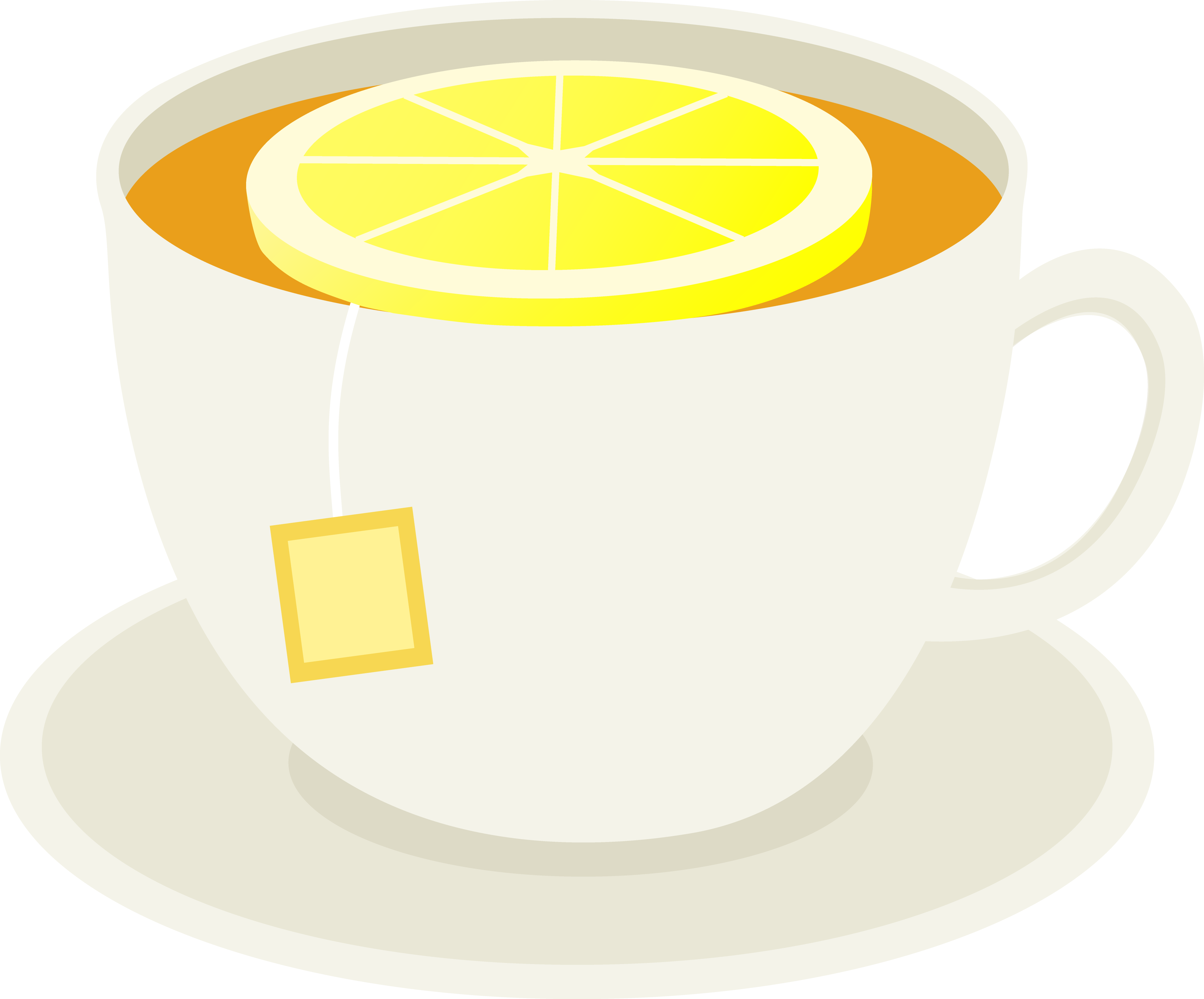 Cup of Tea With Lemon Slice.