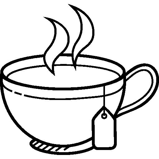 Hot Tea Clipart Black And White.