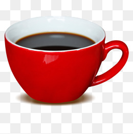 Red Coffee Cup PNG Images.
