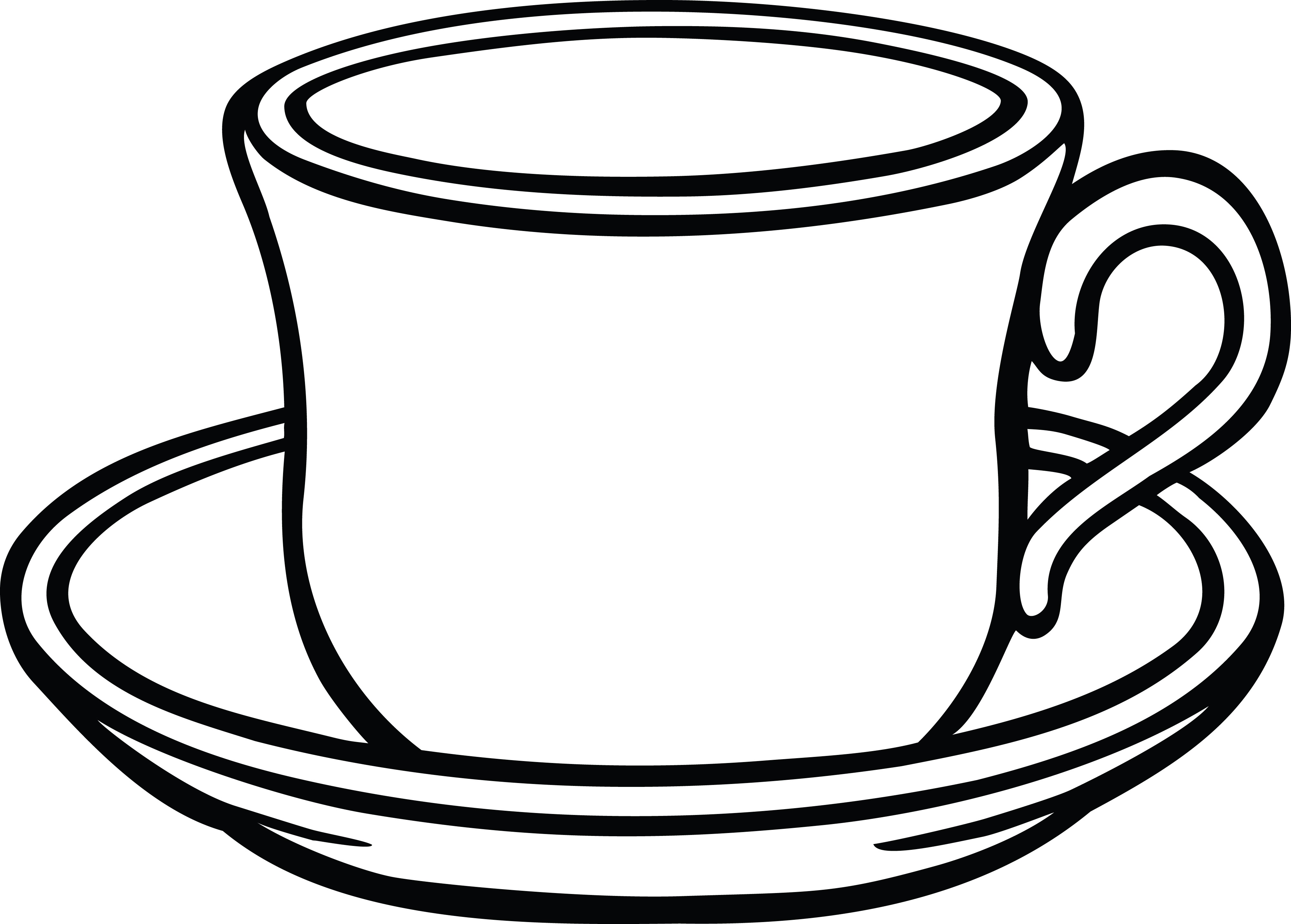 Cup And Saucer Drawing.