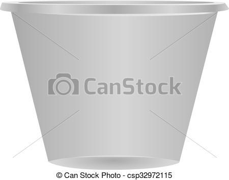 Vector Clip Art of Plastic cup.