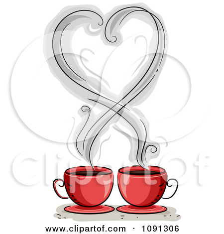 Heart coffee cup clipart.