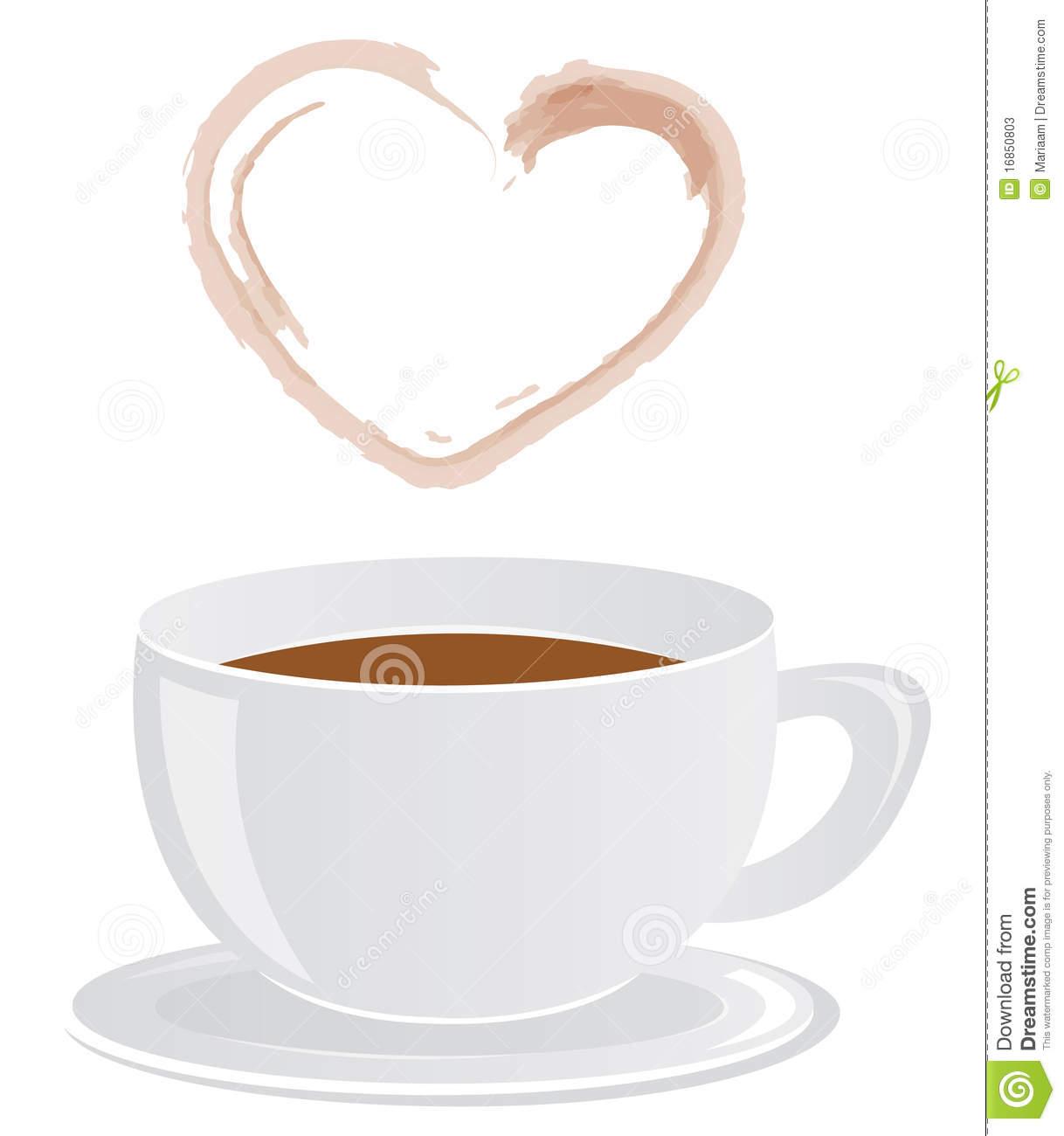 Coffee Cup & Heart.