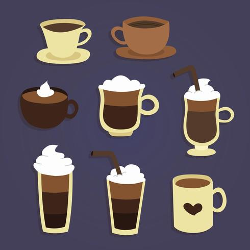 Coffee Cups Vector.