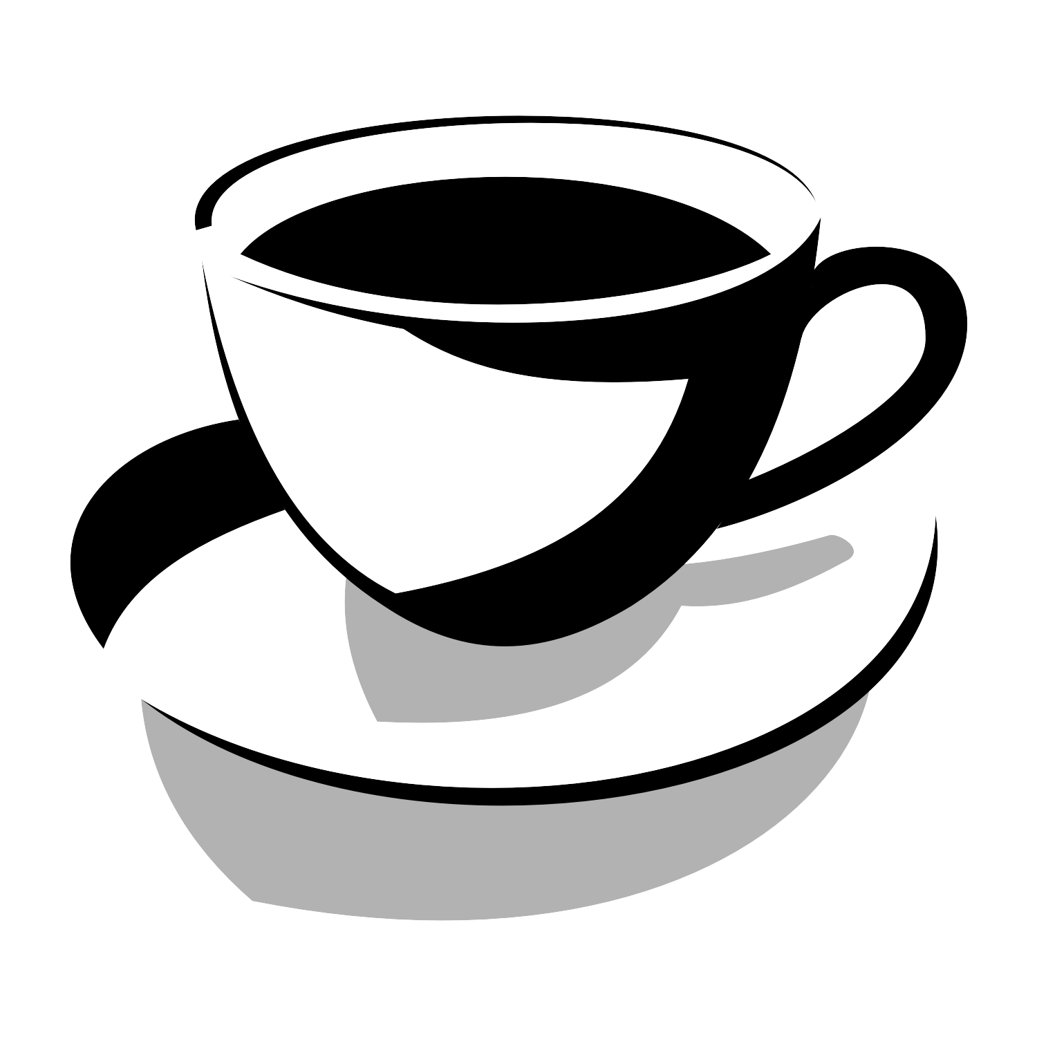 Vector for free use: Icon of cup.