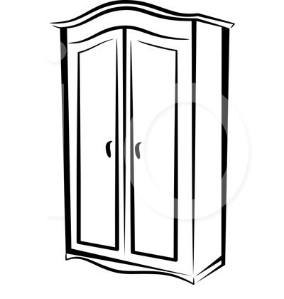 Cupboard Clipart Black And White.