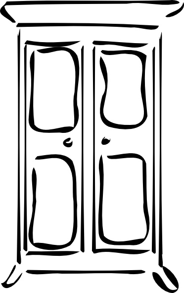 Cupboard clip art Free vector in Open office drawing svg ( .svg.