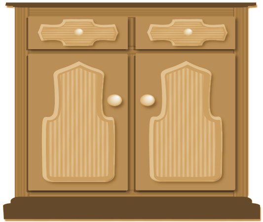 Free Kitchen Cupboard Clipart, 1 page of Public Domain Clip Art.