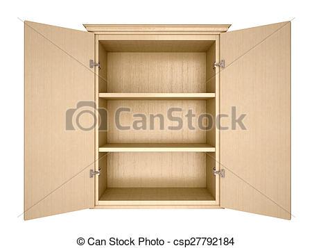Kitchen cupboard clipart.
