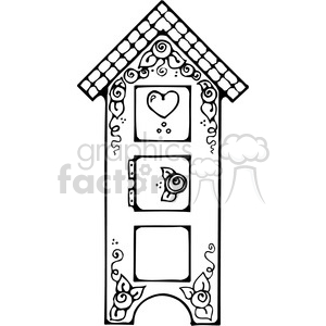 Birdhouse Cupboard clipart. Royalty.