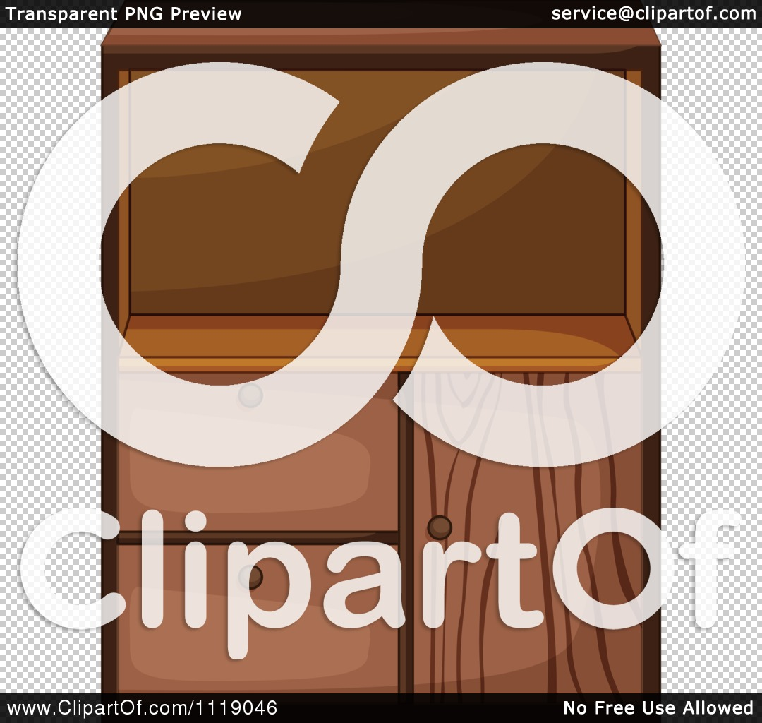 Vector Clipart Of A Kitchen Cupboard 5.