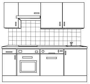 Kitchen cabinets clipart.