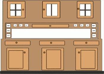 Kitchen Cabinet Symbols Clipart.