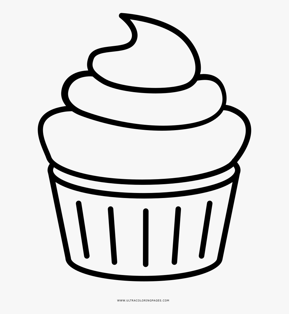 Outline Cupcake Clipart Black And White, Cliparts & Cartoons.