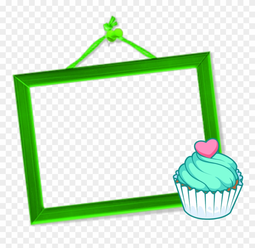 Mq Green Cupcake Frame Frames Border Borders.