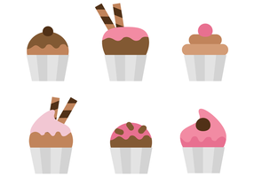 Cupcake Free Vector Art.