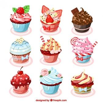 Cupcake Vectors, Photos and PSD files.