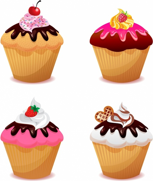 Cupcakes Border.