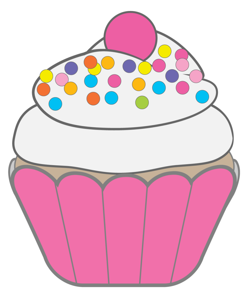 Cupcake drawings and cupcakes clipart 3.