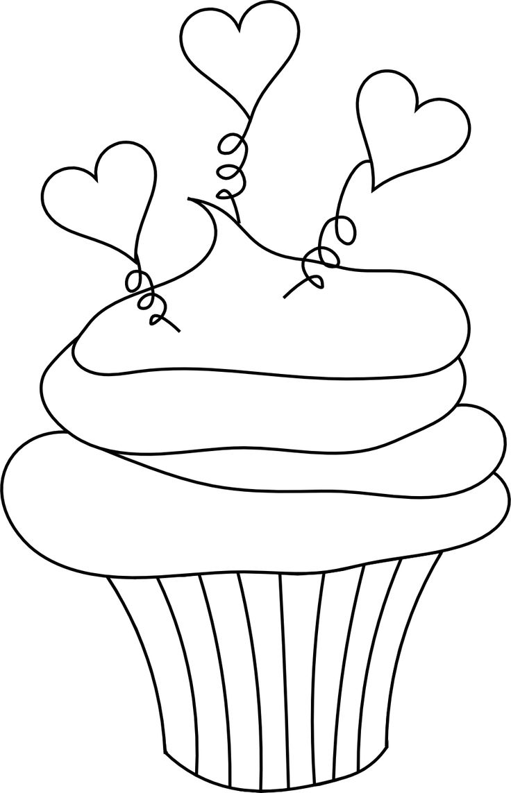 printable cupcake coloring pages 17 best ideas about cupcake images on pinterest - Free Clip Art Coloring Pages