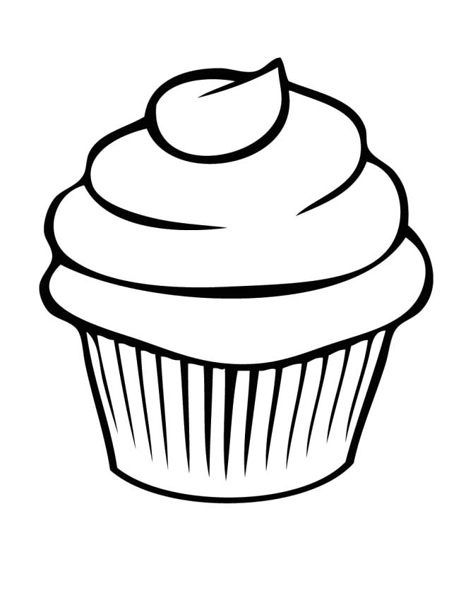 cupcake clipart coloring page 20