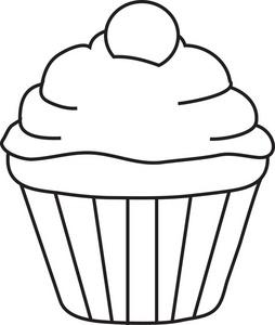 Dibujo de cupcake.