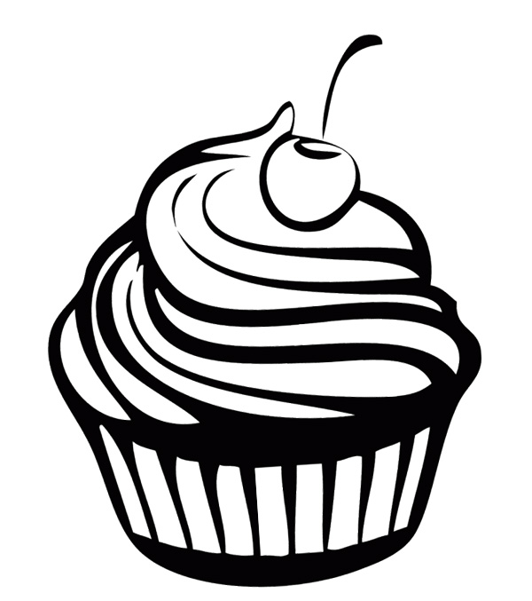 cupcake clipart coloring page 20 free Cliparts | Download ...