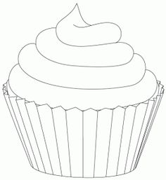 Printable Cupcake Coloring Pages.