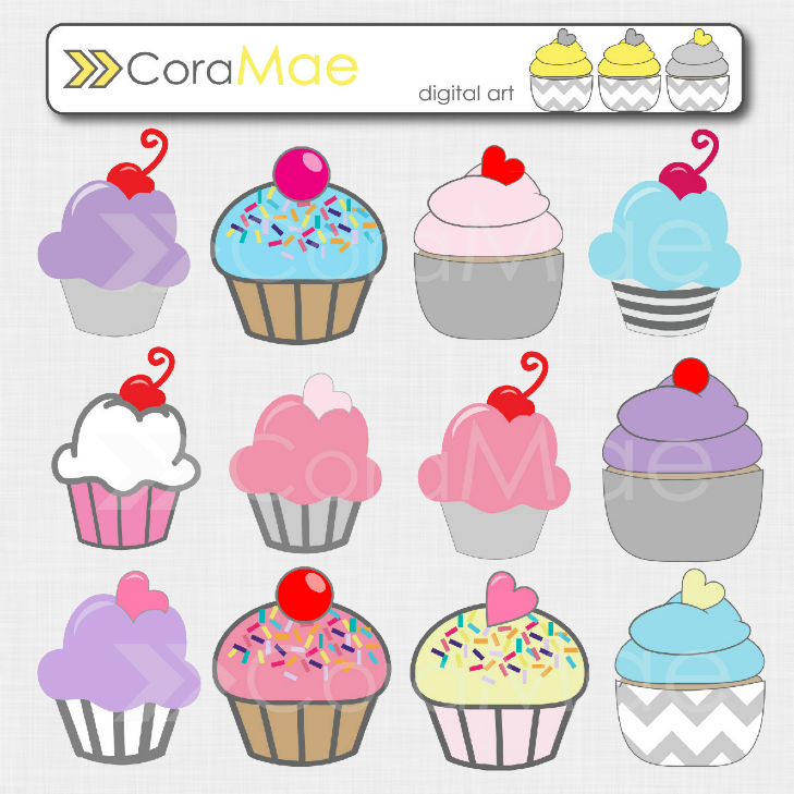 free cupcake clipart images.