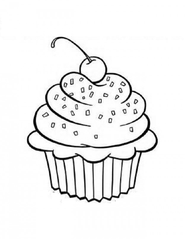 Cupcake black and white 7 images of printable coloring clip.