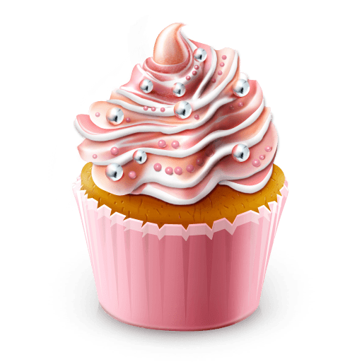 Cupcake Illustration transparent PNG.
