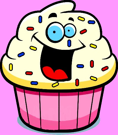 Free Outline Of Cupcake With Face, Download Free Clip Art.