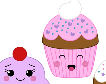 Cute cupcakes clipart with faces 7 » Clipart Station.