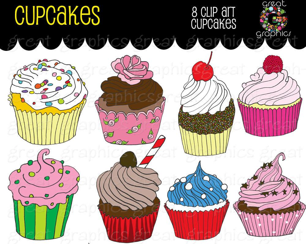 Birthday Party Cupcake Clipart Printable Birthday Party Cupcakes Digital  Clip Art Cupcake Digital Clpart.