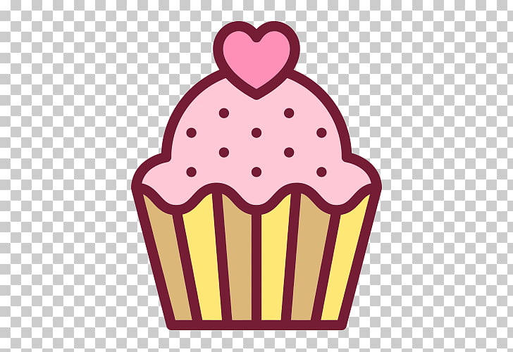 Cupcake Scalable Graphics Icon, Cake , cupcake with heart on.