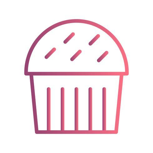 Vector Cupcake Icon.