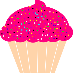 Cupcake With Pink Frosting And Sprinkles Clip Art lots of from files.
