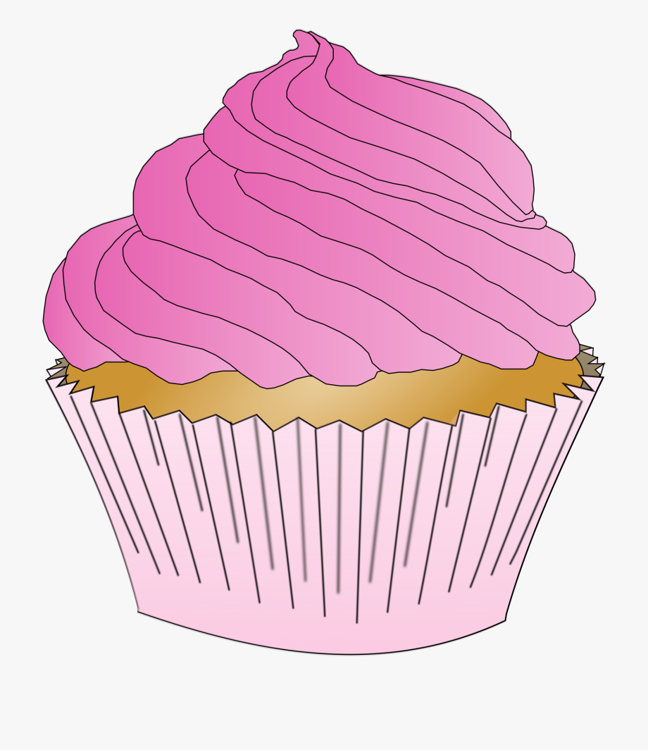 Vanilla Cupcake Clipart Gambar.