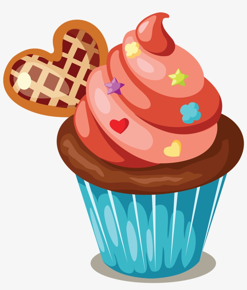 Cupcake Icing Birthday Cake Muffin Clip Art.